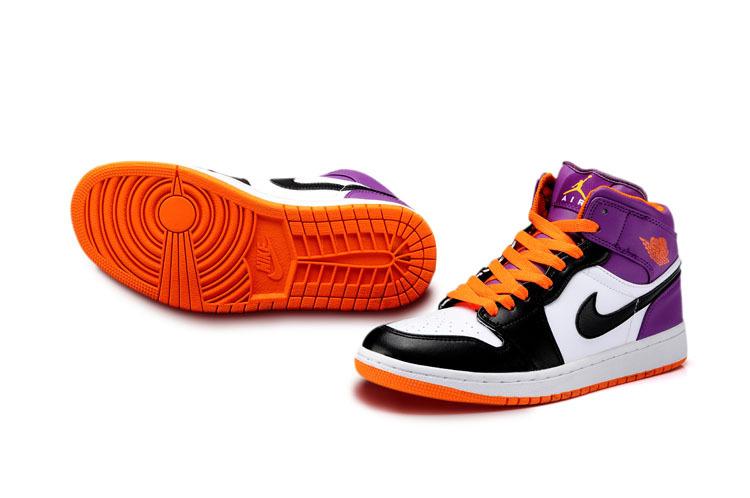 Limited New Jordan 1 White Light Orange Black Shoes Newest203