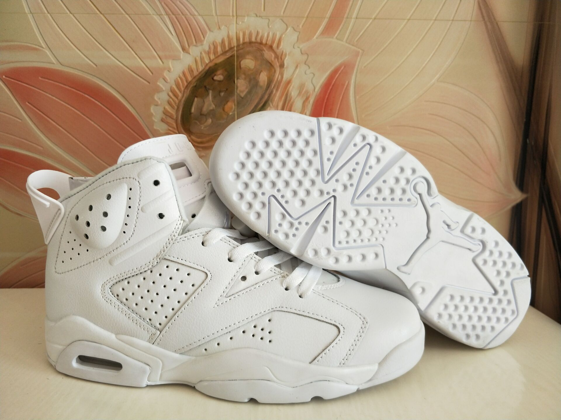 Air Jordan 6 All White Shoes