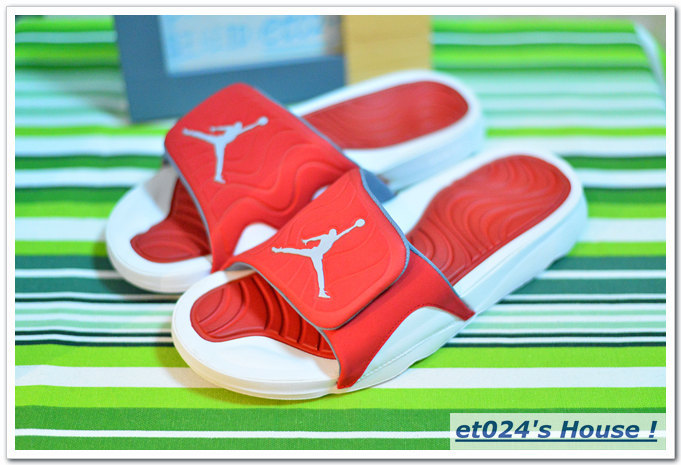 Men Jordan Hydro 5 Slide Sandals Red White