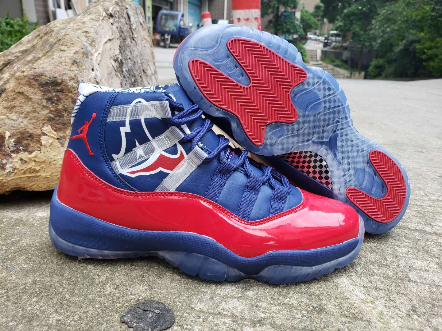 New Air Jordan 11 Championship Blue Red Shoes