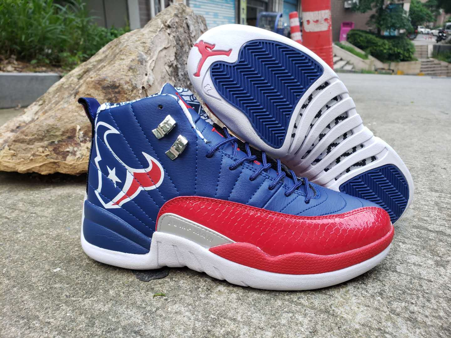New Air Jordan 12 Championship Blue Red White Shoes