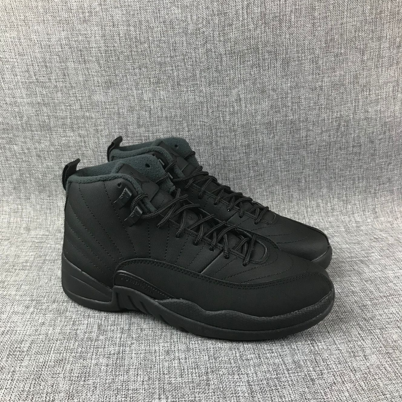 New Air Jordan 12 Retro Devil All Black Shoes