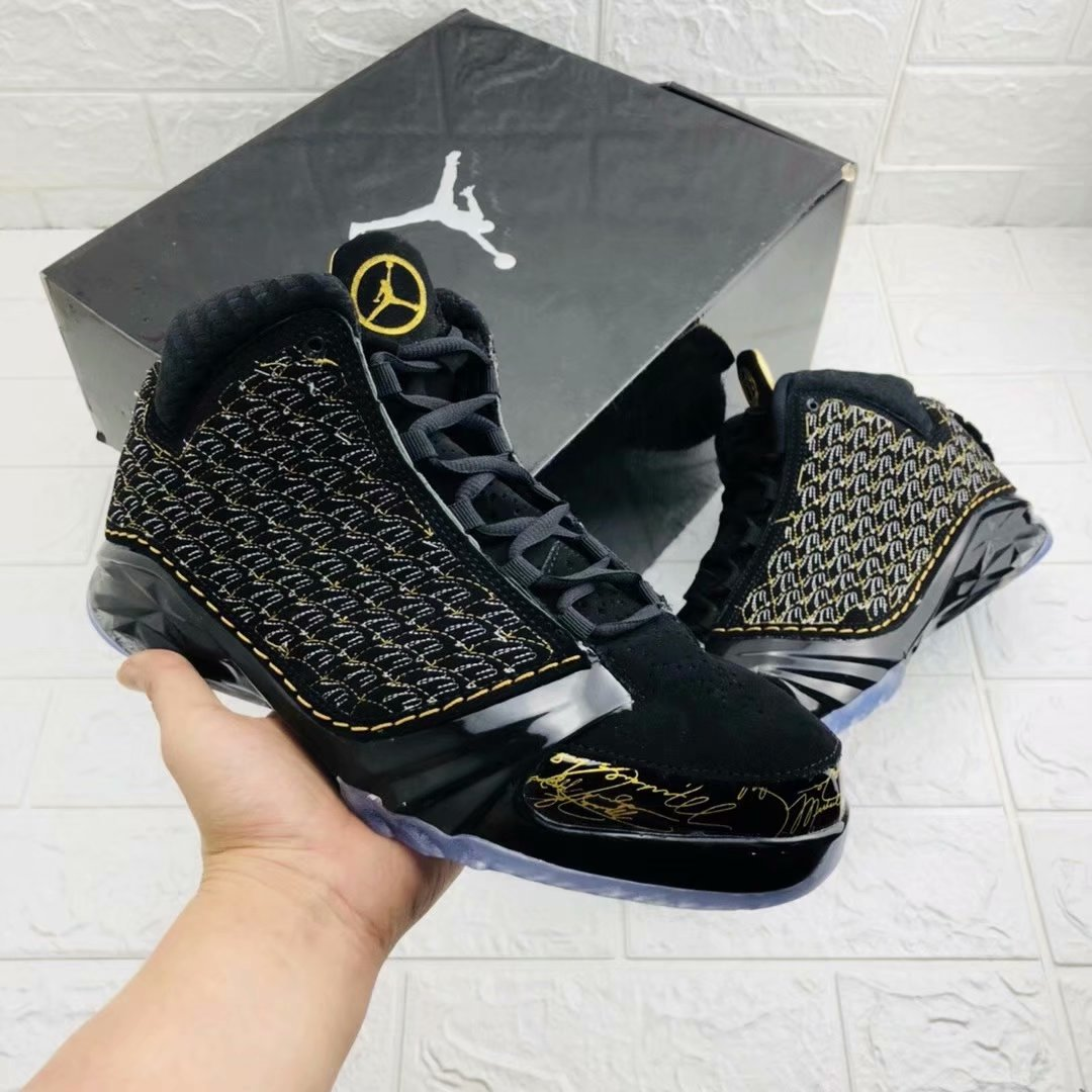 New Air Jordan 23 Black Gold Shoes