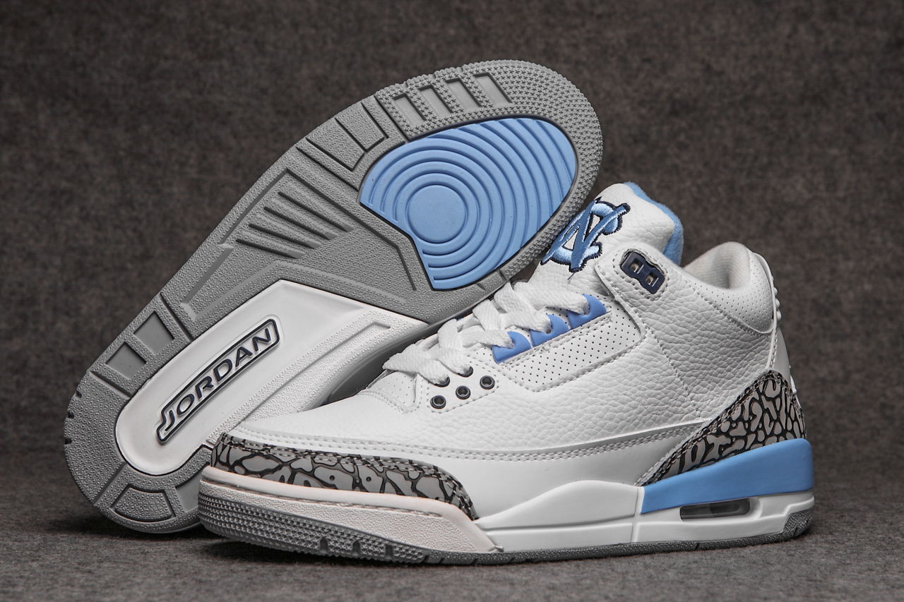 New Air Jordan 3 CN White Cement Grey Baby Blue Shoes