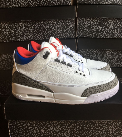 New Air Jordan 3 Seoul White Red Blue Shoes