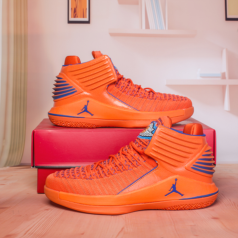 New Air Jordan 32 Orange Blue Shoes