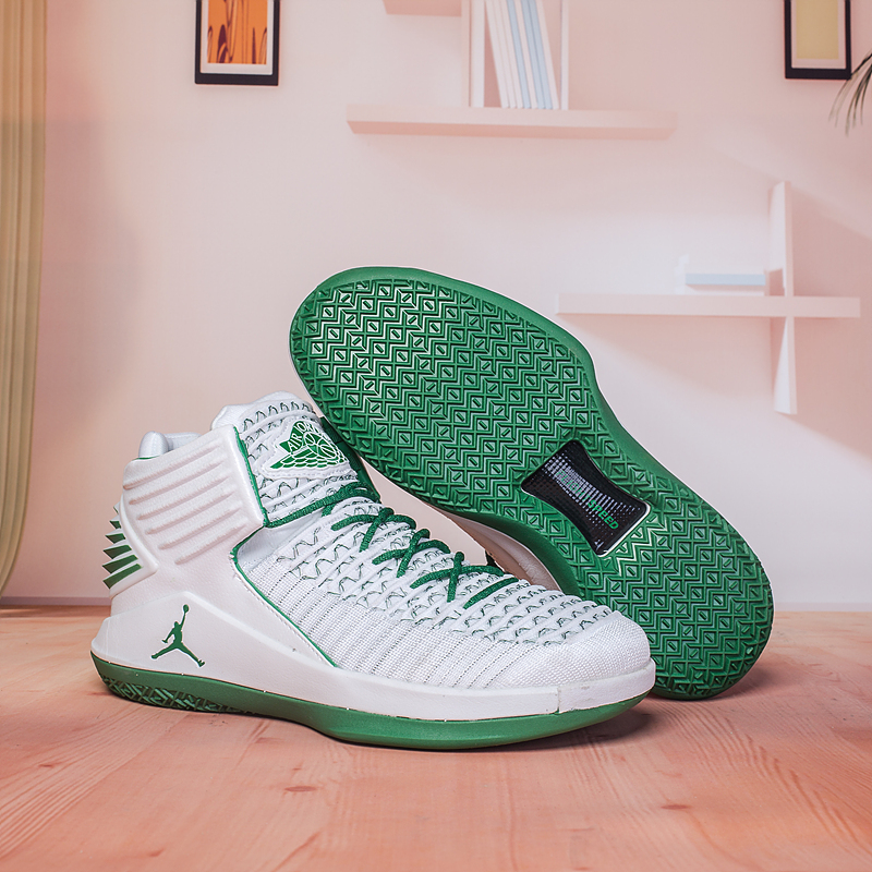 New Air Jordan 32 White Green Shoes