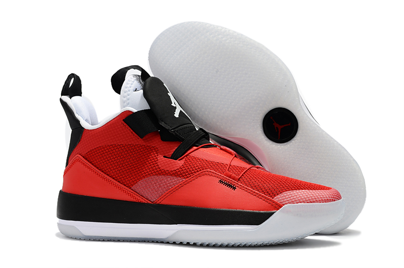 New Air Jordan 33 Red Black White Shoes
