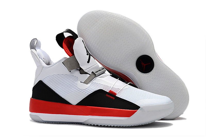 New Air Jordan 33 White Black Red Shoes