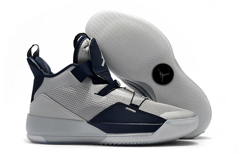 New Air Jordan 33 Wolf Grey Deep Blue Shoes
