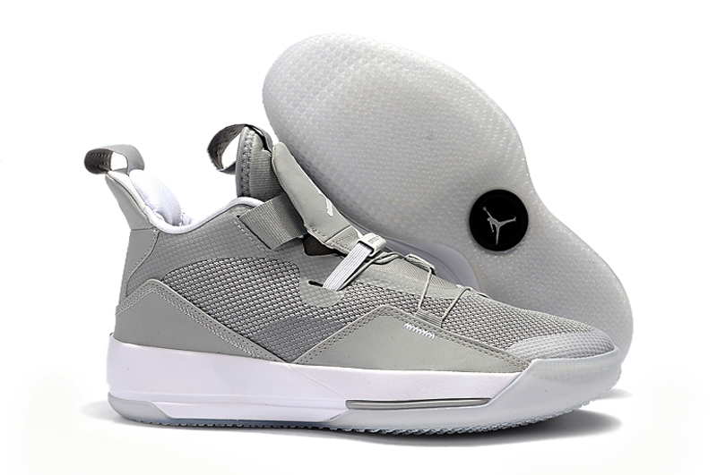 New Air Jordan 33 Wolf Grey Shoes