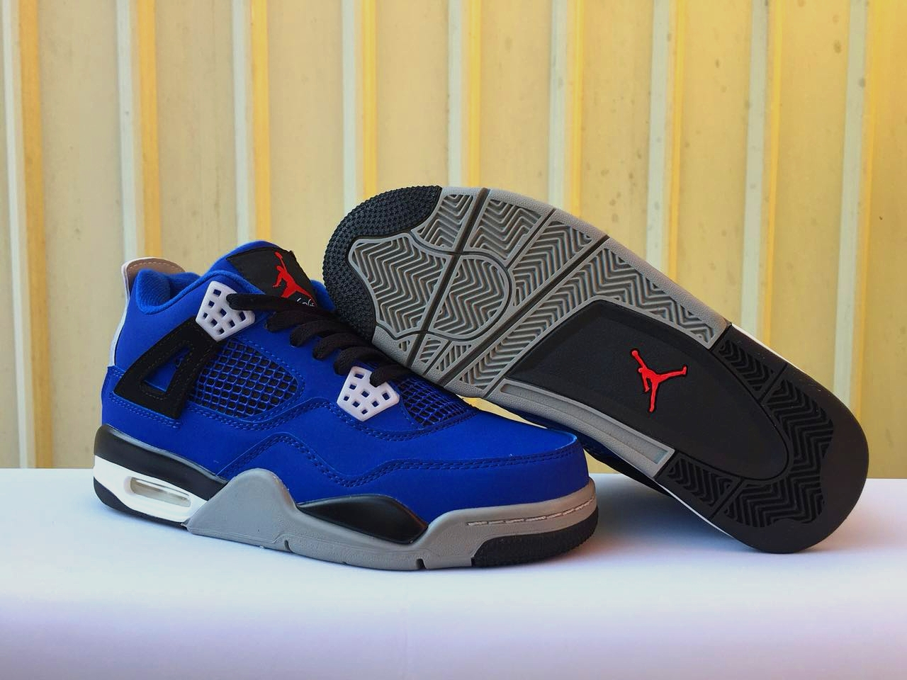 New Air Jordan 4 Eminem Royal Blue Black Shoes