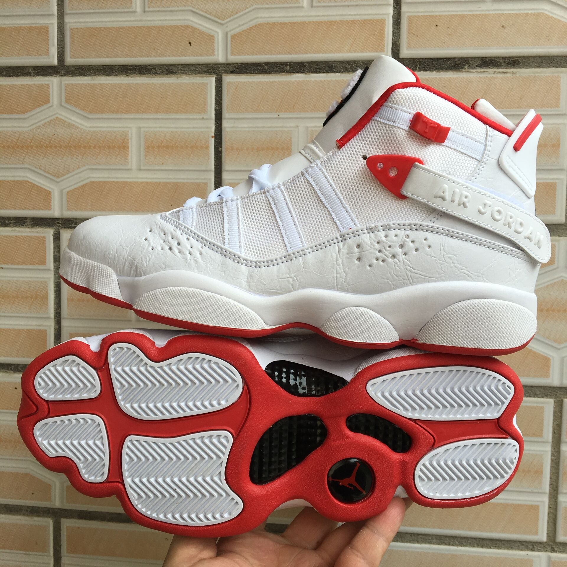 New Air Jordan Six Rings White Red Shoes