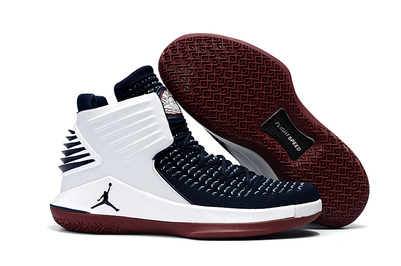 New Air Jordan XXXII Black White Red Sole Shoes