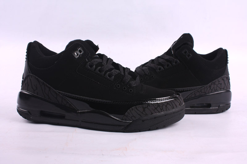 New 2015 Air Jordan 3 Retro All Black Shoes