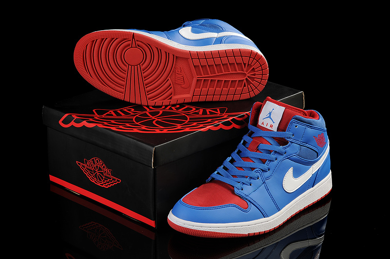 the latest 80ccd 3f3fe New Air Jordan 1 Blue Red White Shoes 2013 New Air Jordan 1 ...