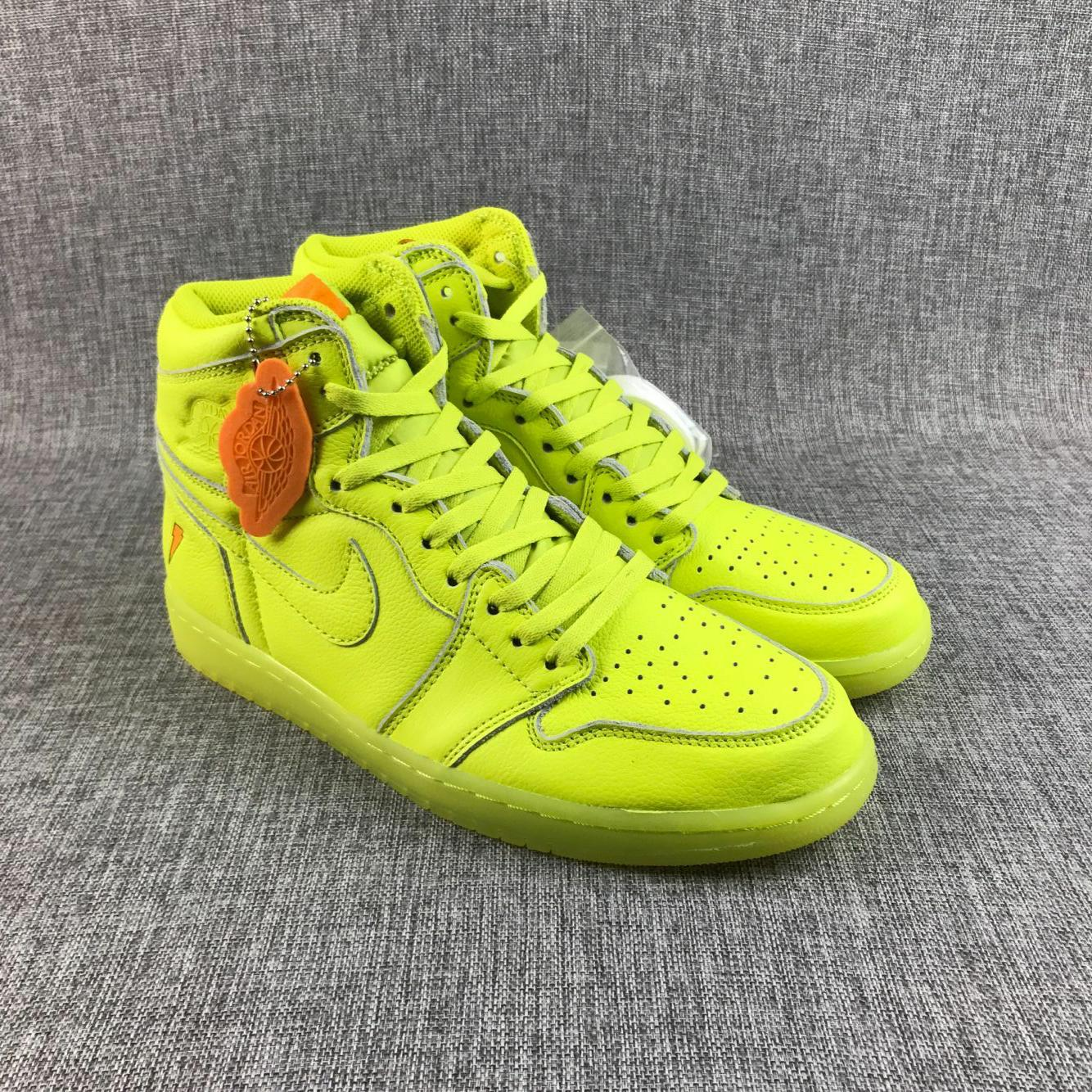 New Air Jordan 1 Gatorade Fluorscent Green Shoes