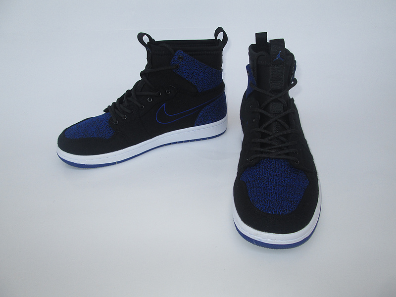 New Air Jordan 1 Knitted Socks Shoes Black Blue