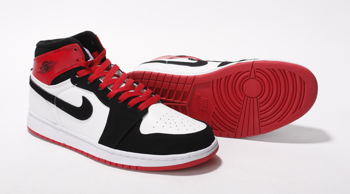 Air Jordan Retro 1 White Black Red