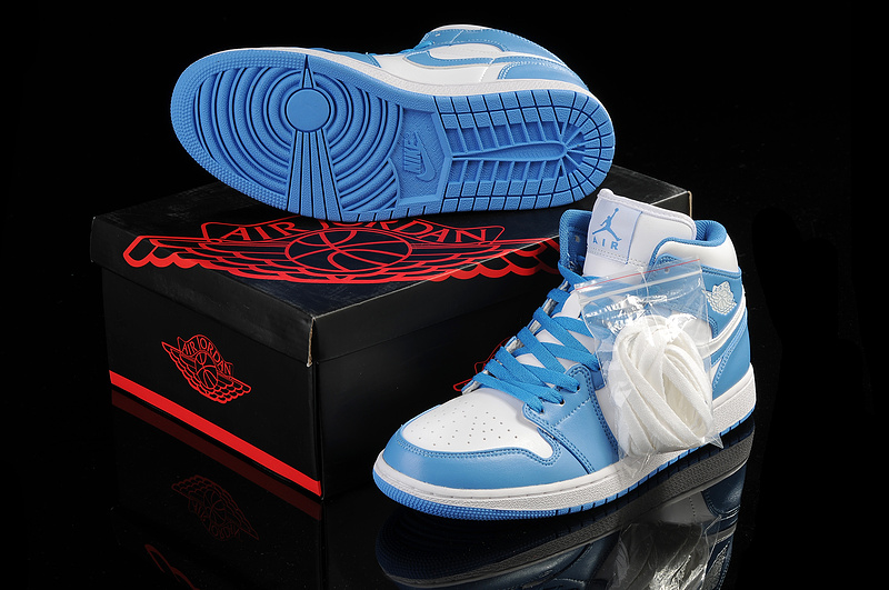New Arrival Jordan 1 White Light Blue Shoes