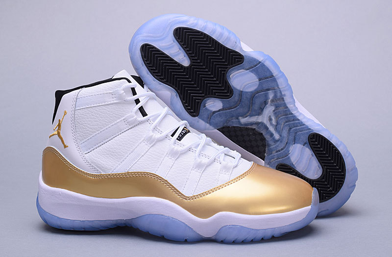 New Air Jordan 11 High White Gold Shoes