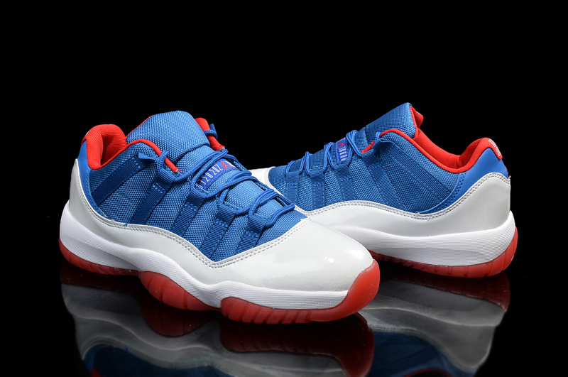 ... best new original air jordan 11 low blue white red shoes da3d6 43a7a b8012cf24