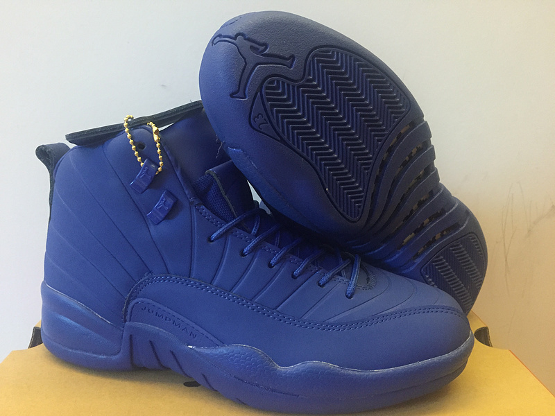 New Air Jordan 12 PNSY All Blue Shoes  6MAY1501  -  85.00   Original ... 797fddf71