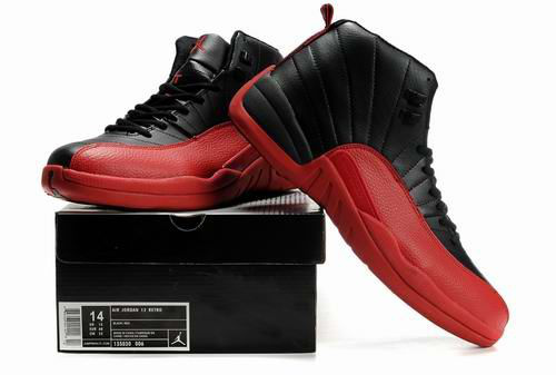 Latest Air Jordan 12 Black Red
