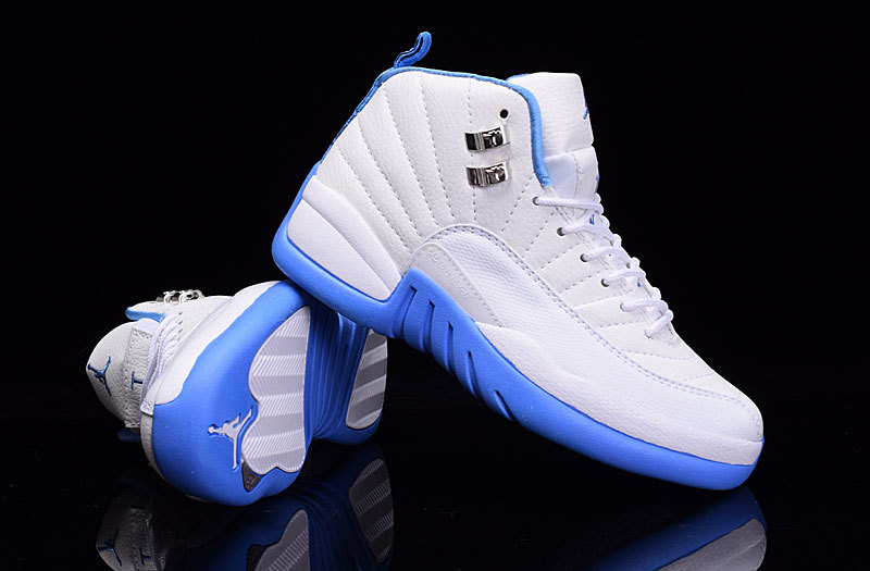 New Air Jordan 12 GS White Baby Blue Shoes  6may1516  -  72.00 ... a47adcea06