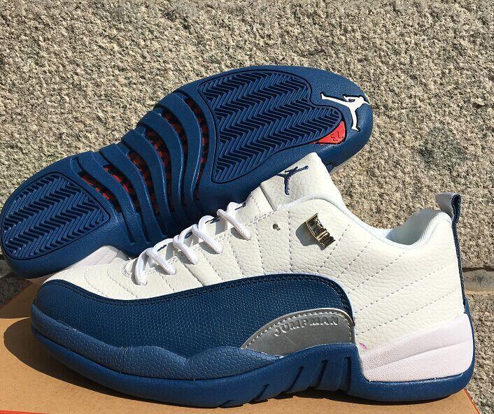 cheap for discount 2ac13 e8779 official store french blue jordan 12 retro 9bc16 8b25b  get new air jordan  12 low white frech blue shoes 34e0c 94bdd
