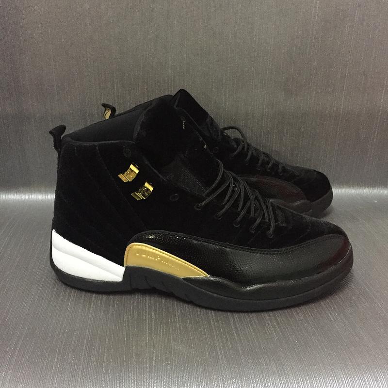 d29a288b8b371b New Air Jordan 12 Velvet Black Gold Shoes  17OG42407  -  78.00 ...