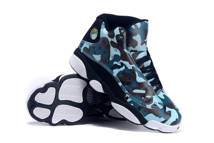 New Original Air Jordan 13 Army Blue Black White For Women  OG82360 ... d46e20f71