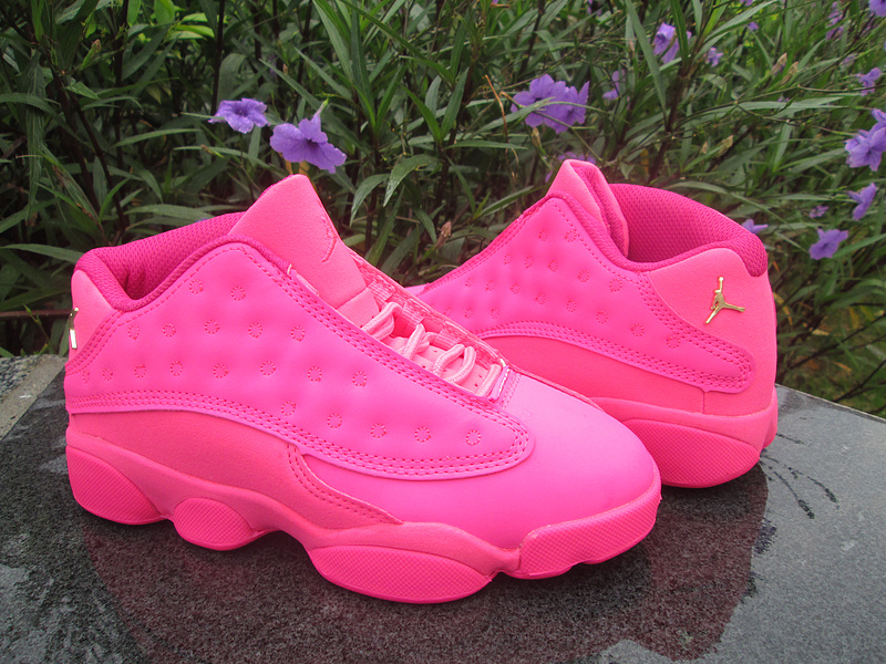 New Air Jordan 13 Low GS All Pink Shoes