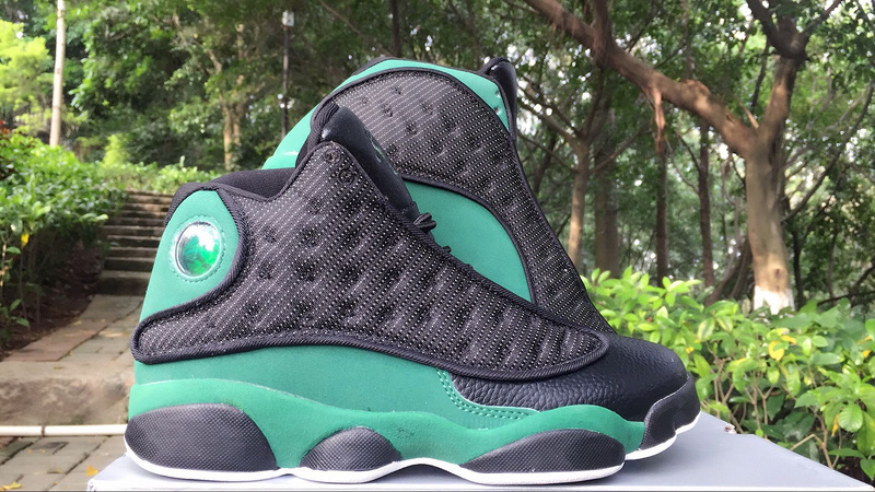 New Air Jordan 13 Ray Allen Black Green Shoes
