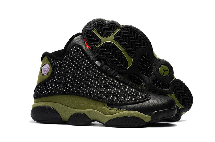 New Air Jordan 13 Retro Black Green Shoes