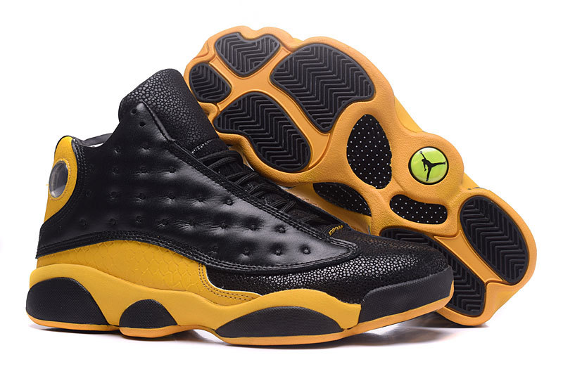 New Air Jordan 13 Retro Black Yellow