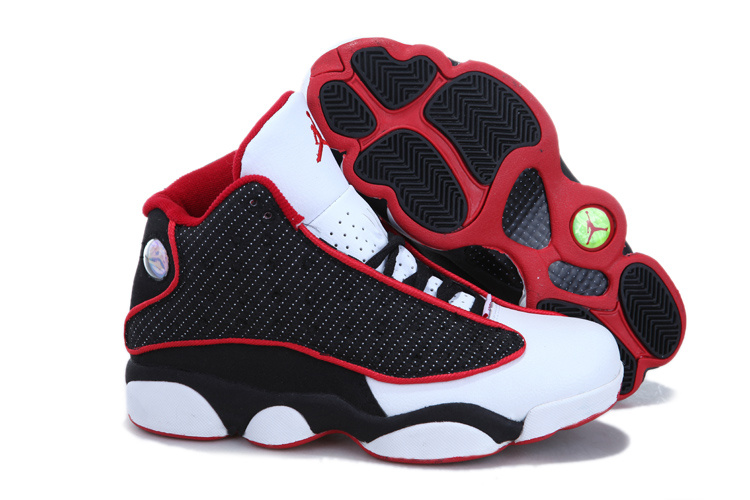 2013 Air Jordan 13 White Black Red For Women