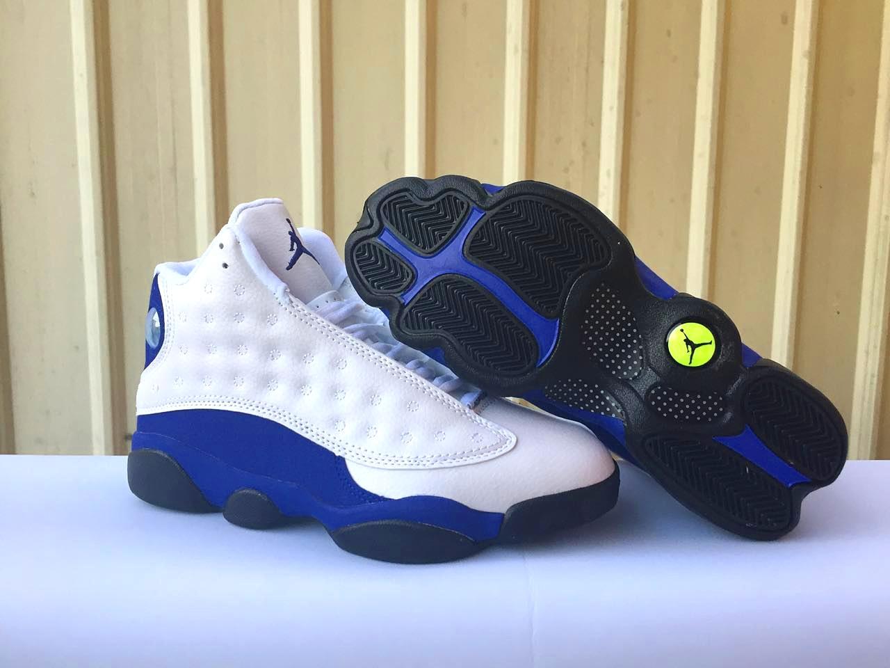 promo code 2e070 44111 New Air Jordan 13 White Blue Black Shoes [17OG102704 ...