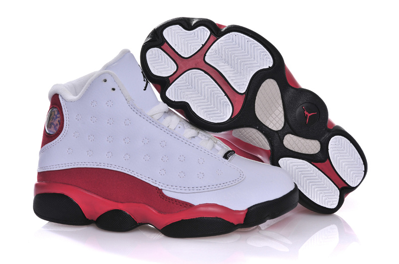 New Air Jordan 13 White Red Black For Kids