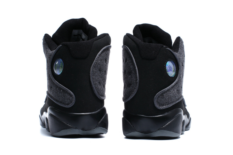New Air Jordan 13 Wool All Black Shoes