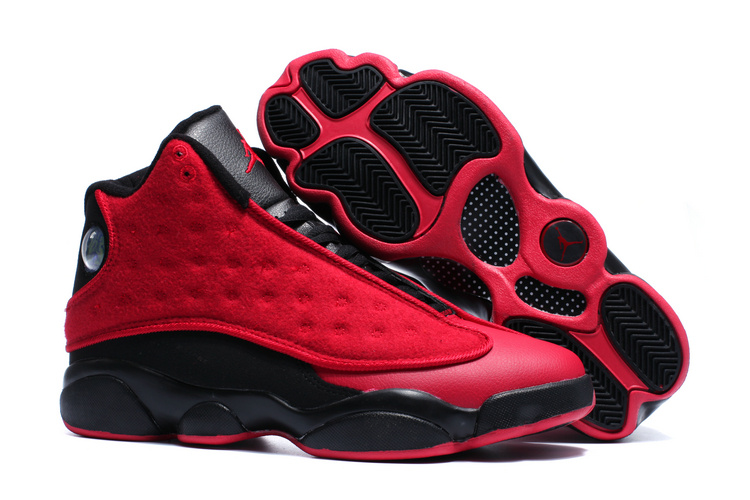 New Air Jordan 13 Wool Red Black Shoes