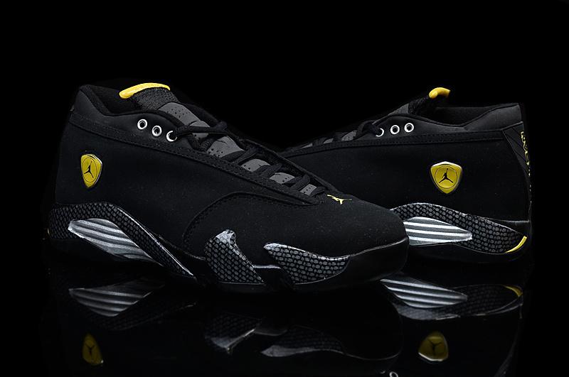 sale retailer 4afc1 7f364 new zealand women air jordan retro 14 black yellow 14d95 30422