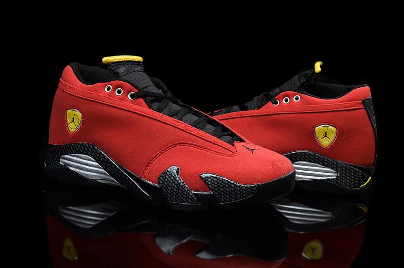 New Air Jordan 14 Low Red Black Yellow For Women  AJ091842  -  75.00 ... 7479f514af