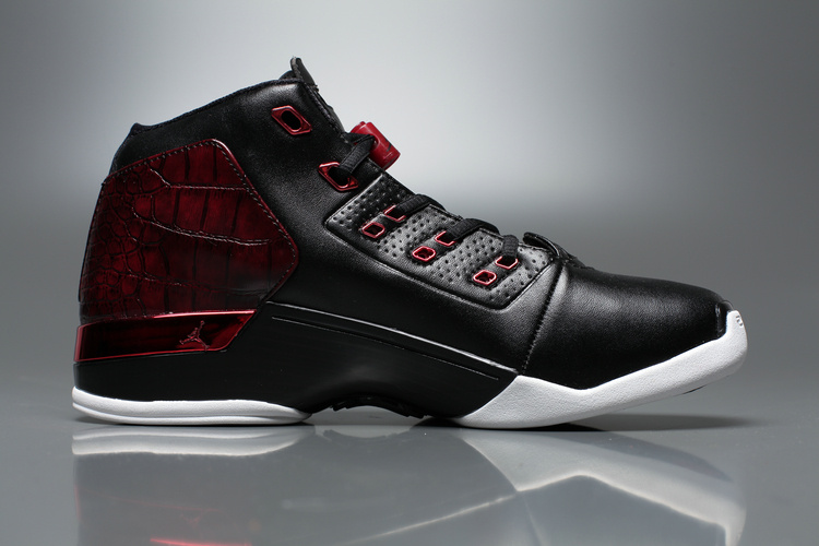 New Air Jordan 17+ Black Red Shoes