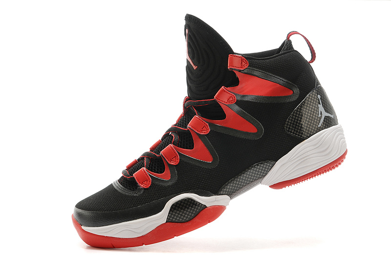New Air Jordan 28 Black Red White Shoes