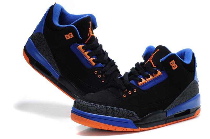 Air Jordan Retro 3 Black Blue Orange Cheap Air Jordan Retro 3 Black ... 18a24644b