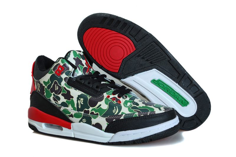 Air Jordan 3 OG Hero Warrior Green Black Red  OG026  -  83.00 ... 4c5ad3559