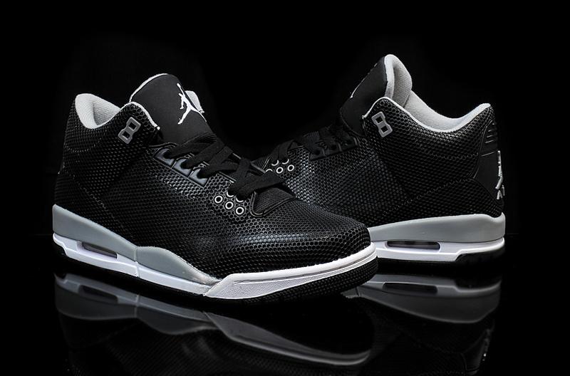 official photos f9068 4c88f New Air Jordan 3 Retro PVC Black Grey White Shoes