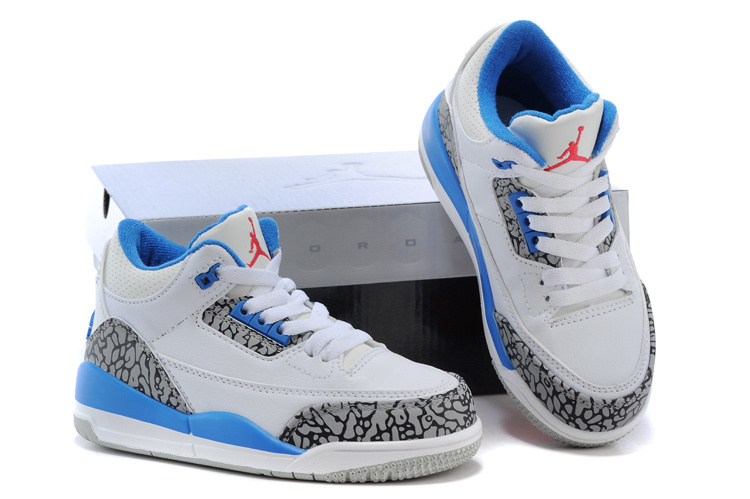 New Air Jordan 3 White Grey Cement Baby