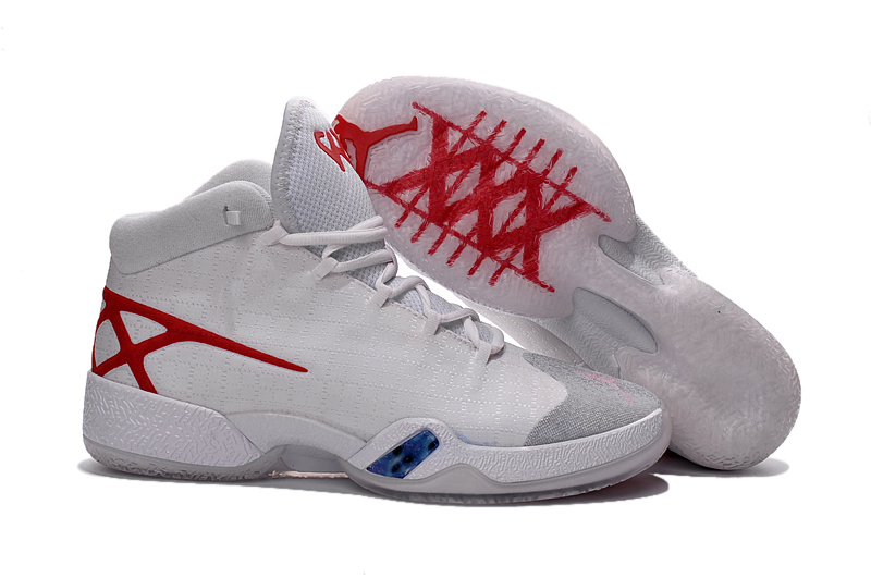 New Air Jordan 30 White Red Shoes